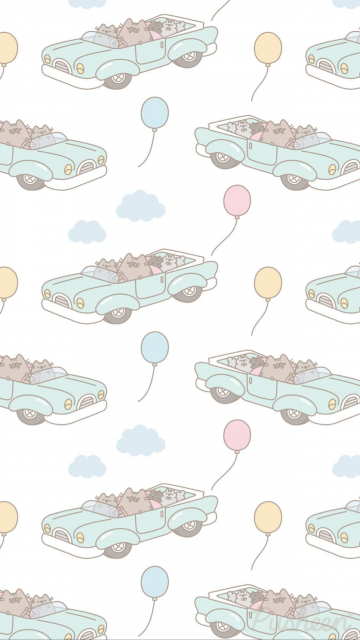 Pusheen the cat iphone wallpaper Fathers Day With images