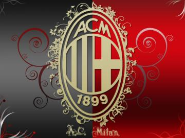 AC Milan Artistic Logo HD Wallpaper for Desktop and iPad