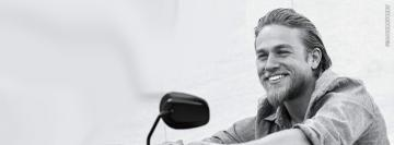 Charlie Hunnam Smiling Photograph Cover 2 Wallpaper