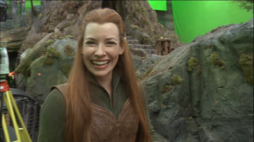 evangeline lilly as tauriel in hobbit wallpapers   Evangeline Lilly as