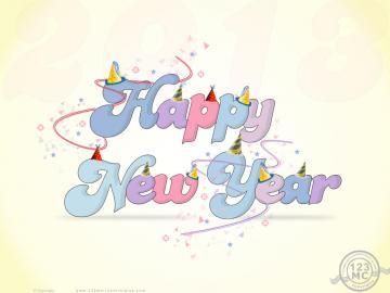 Happy New Year 2013 Download Wallpaper eCard Greetings