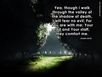 Psalm 23 4 Wallpaper As desktop background