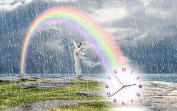 Summer Rain Clock screensaver   Summer Rain Clock keeps count while