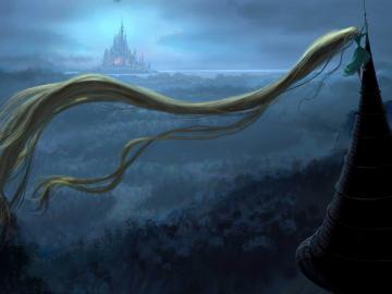 Description rapunzel tower World of fantasy art design HD wallpaper