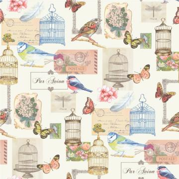 Wallpaper Muriva Muriva Birdcage Motif Wallpaper J51112