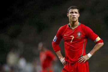 Football Player Cristiano Ronaldo in Red Wallpaper HD Wallpapers