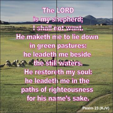 Psalms 23 King James Version Psalm 23 king james