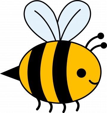 Cute Yellow Bumble Bee   Clip Art