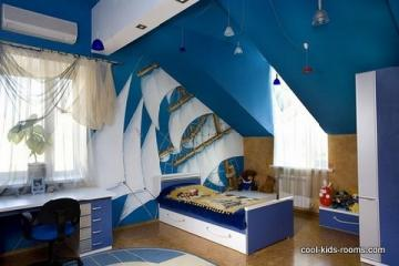 Cool boys bedroom furniture design and wallpaper decorating ideas