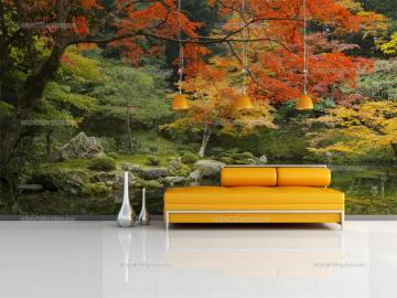 Wall Murals Landscape Canvas Prints Posters   Japanese Garden