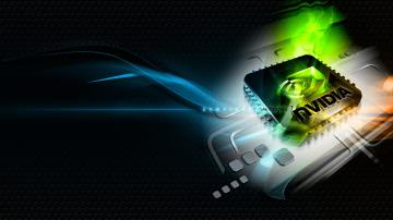 3840x2160 Wallpaper nvidia green blue white chip