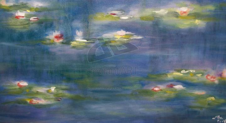 600x263px Monet Inspired Wallpaper