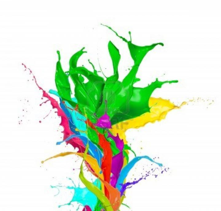 1366x768px Paint Splash Wallpaper