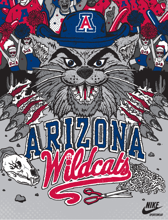 1035x191px Arizona Wildcats Logo Wallpaper