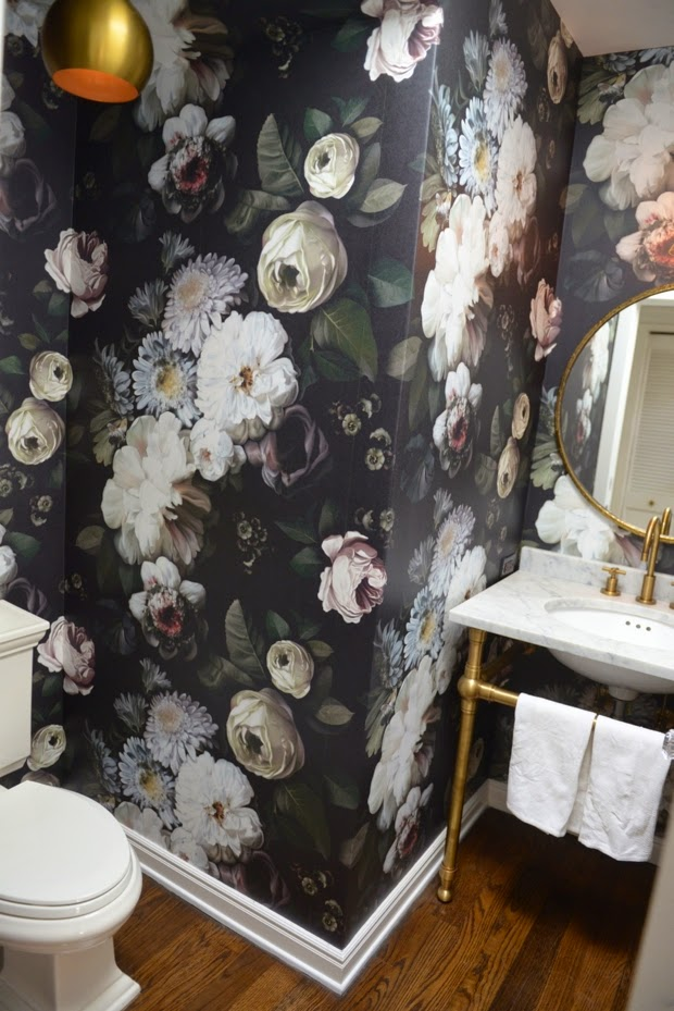640x640px Ellie Cashman Dark Floral Wallpaper Wallpapersafari