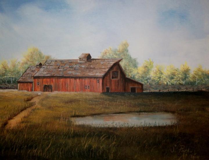800x600px Country Barn Desktop Wallpaper