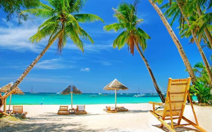 Hd Tropical Island Beach Paradise Wallpapers And Backgrounds: 1024x640px Tropical Beach Screensavers And Wallpaper