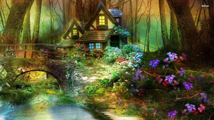 640x512px enchanted forest background wallpapersafari - Space wallpaper wilko ...