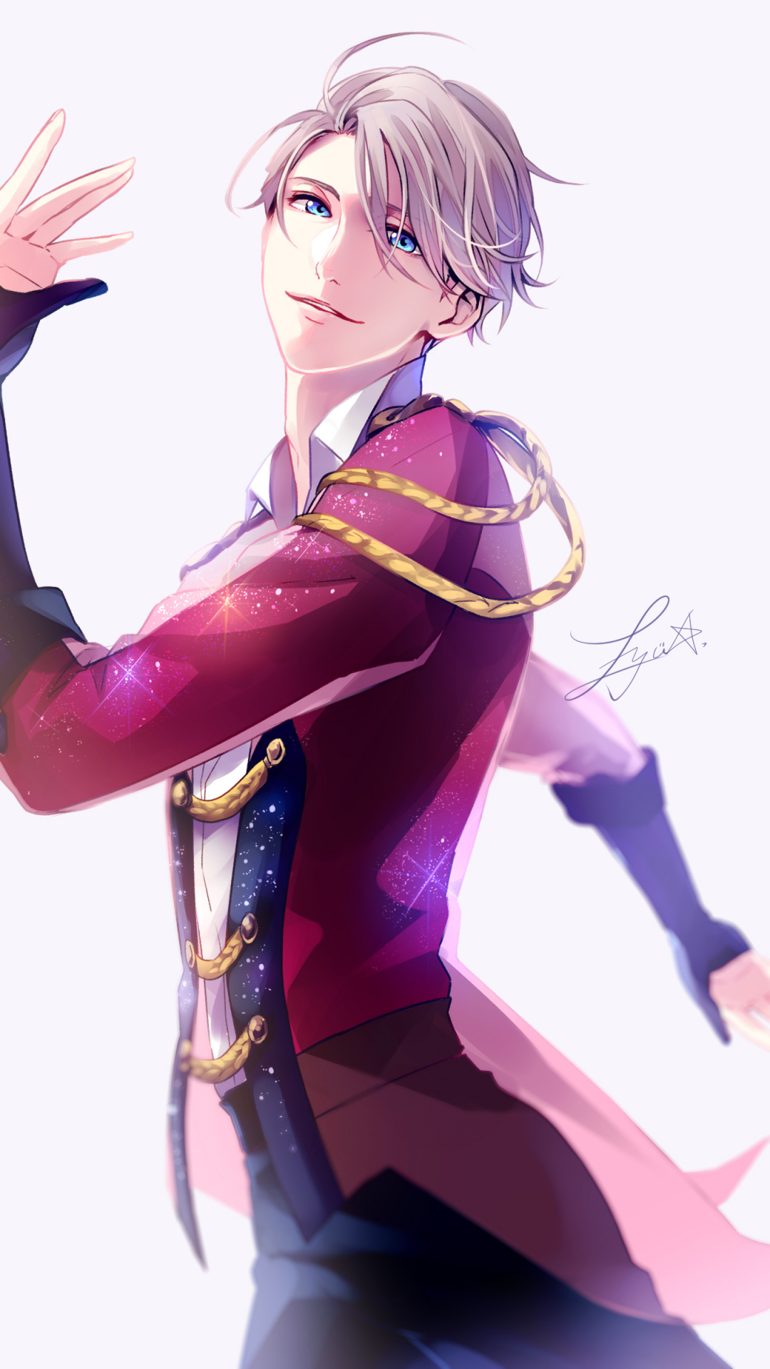 Free Download Victor Nikiforov Yuri On Ice Mobile Wallpaper