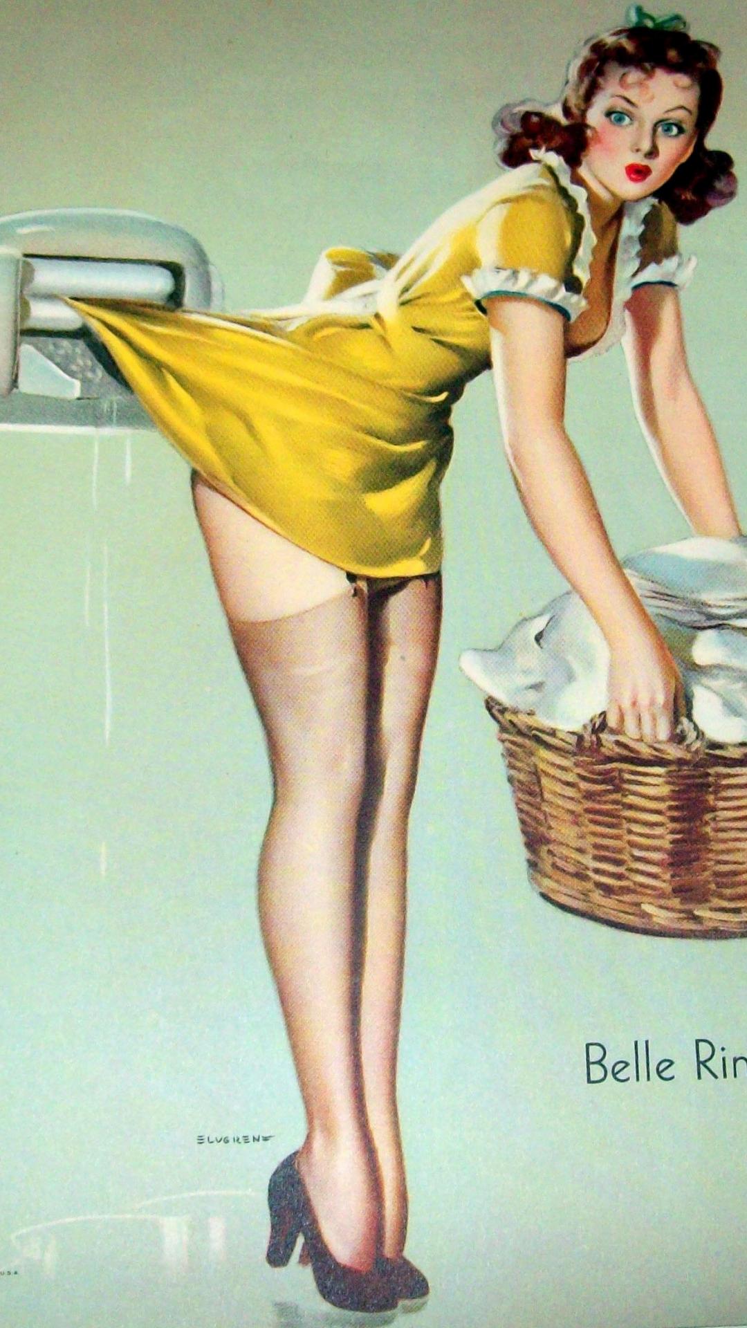 Free Download Pin Up Girl Wallpaper Desktop Swing Swimsuit Look