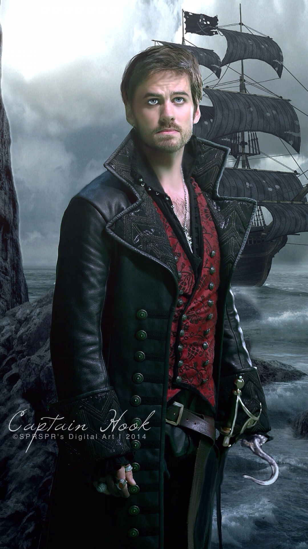 free download captain hook once upon a time wallpaper