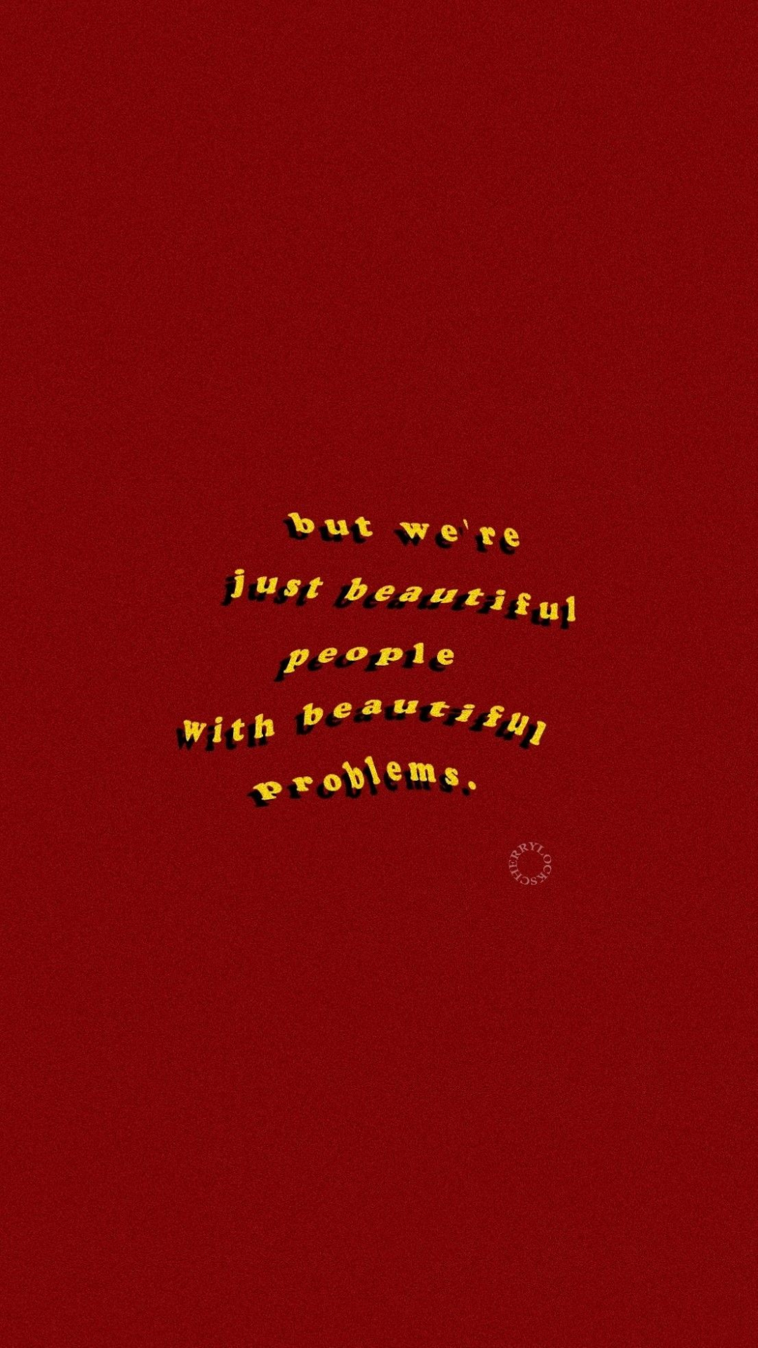 Free Download Lockscreen Red Aesthetic Words To Live By In 2019