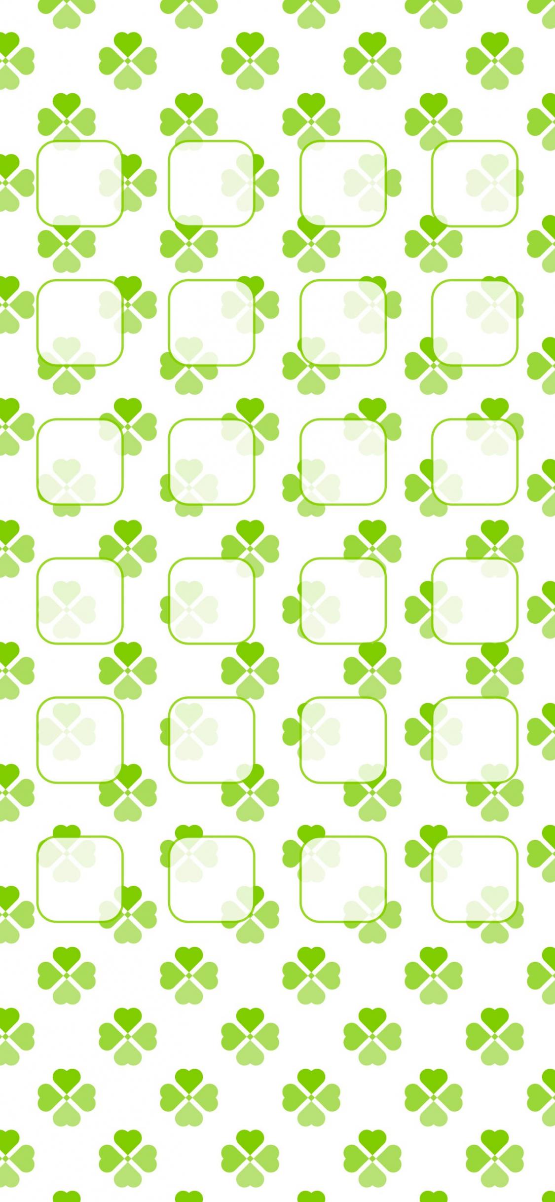 Free Download Clover Pattern For Girls Shelf Green Wallpapersc