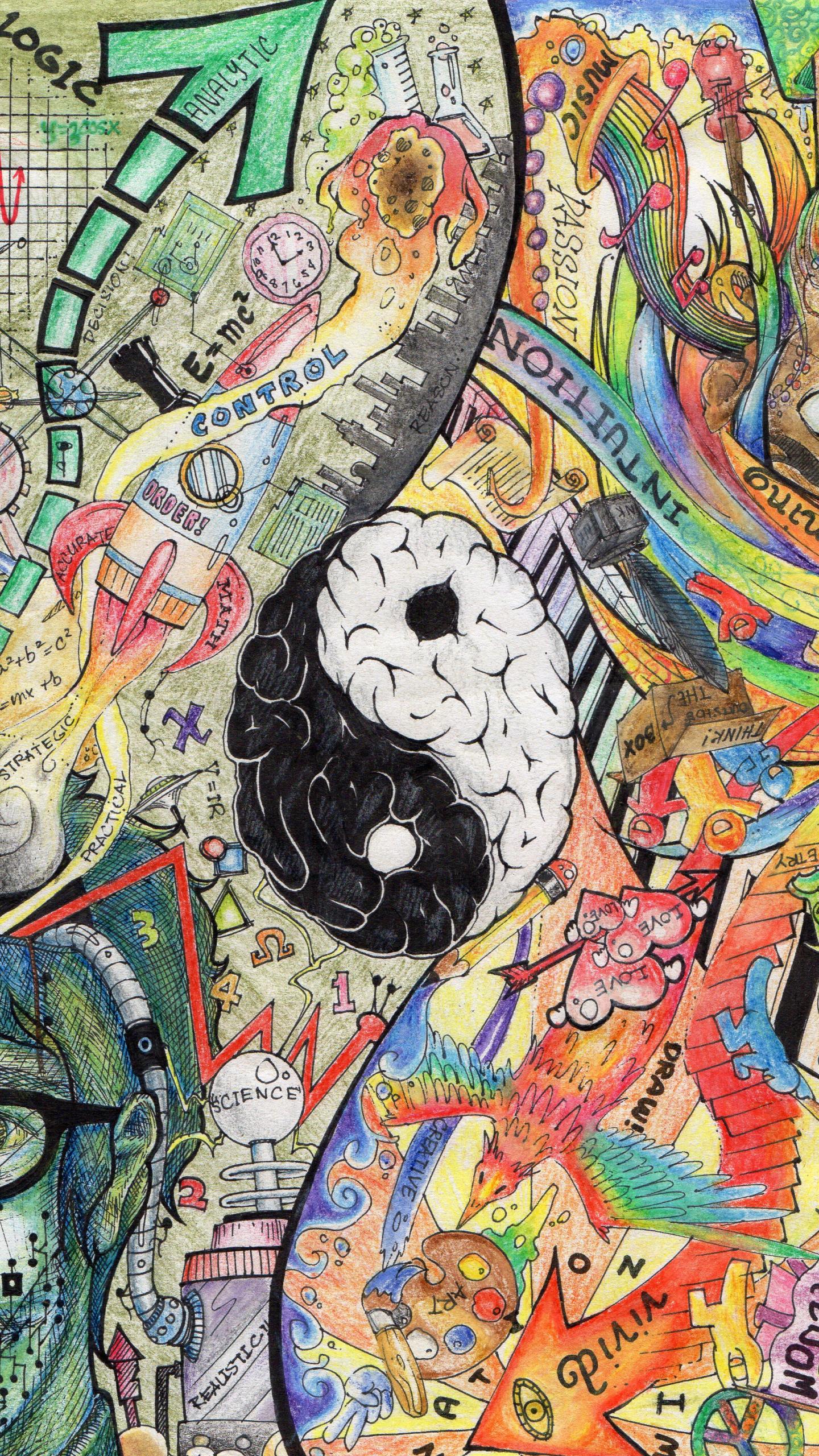 Free Download Left Brain Right Brain Wallpaper 2448x3216
