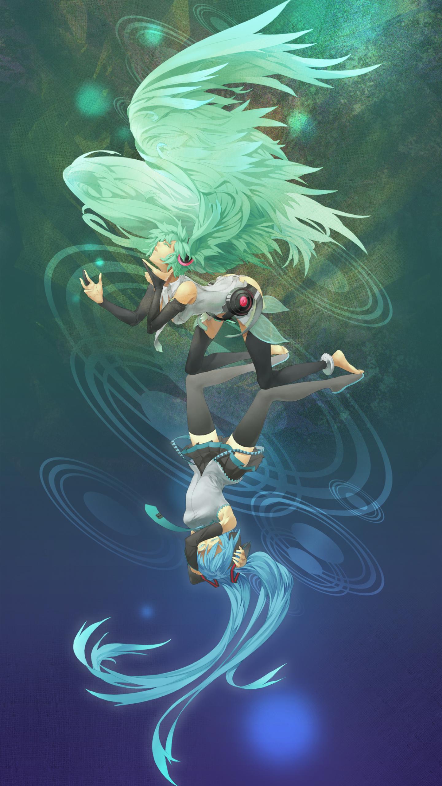 Free Download Vocaloid Hatsune Miku Vertical Miku Append Anime