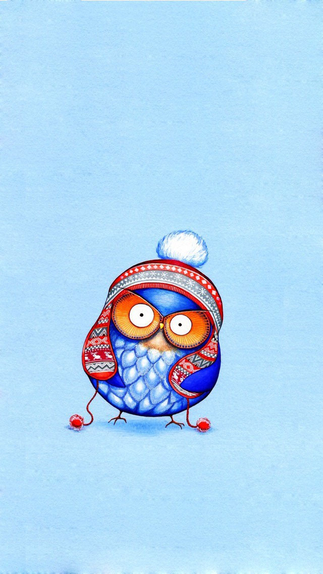 Free Download Cute Cartoon Owl Art Wallpaper Iphone Wallpapers