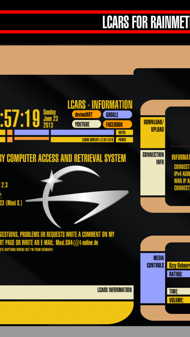 Free download Star Trek LCARS Rainmeter Sk [1920x1240] for your