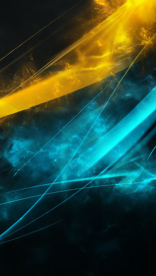 Free Download Blue And Yellow Abstract Lines Wallpaper