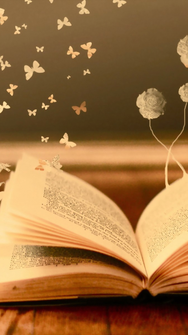 Free Download Mood Books Read Pages Flowers Butterfly