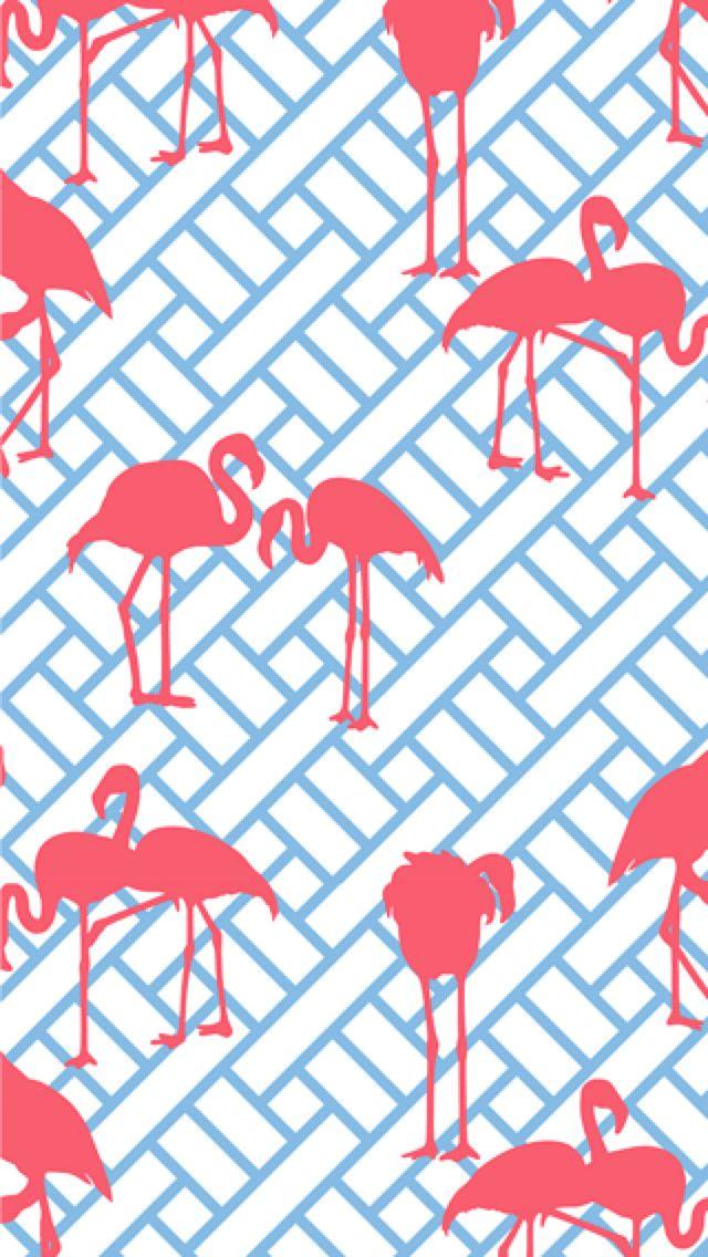 Free Download Preppy Backgrounds Flamingo Iphone Wallpaper