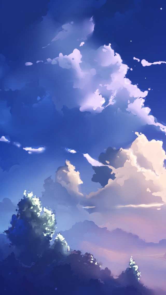 Free Download Iphone 5 Wallpapers Hd Anime Scene Clouds