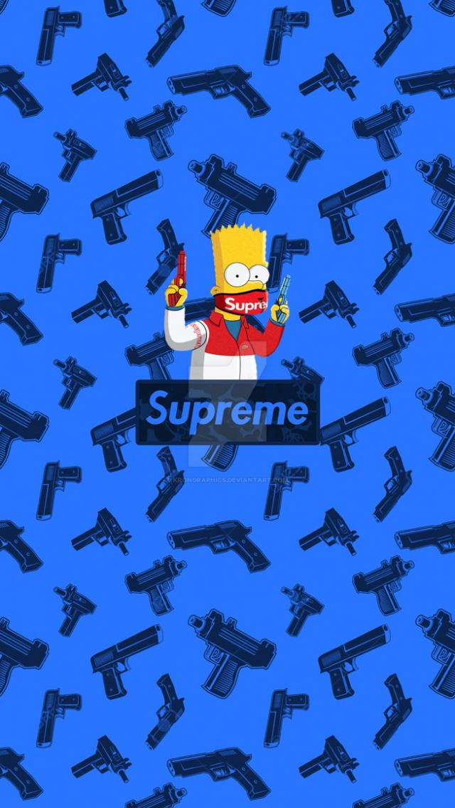 Free download Supreme x Simpsons Iphone Wallpaper by ...