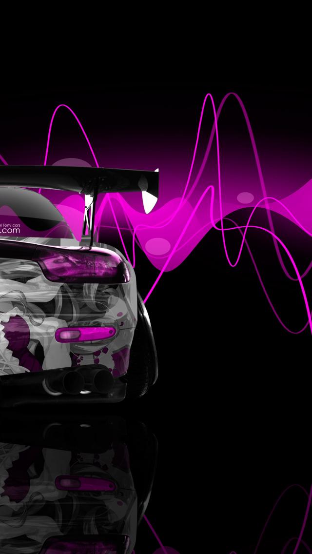 Free download Back Anime Girl Aerography Car 2015 Pink ...