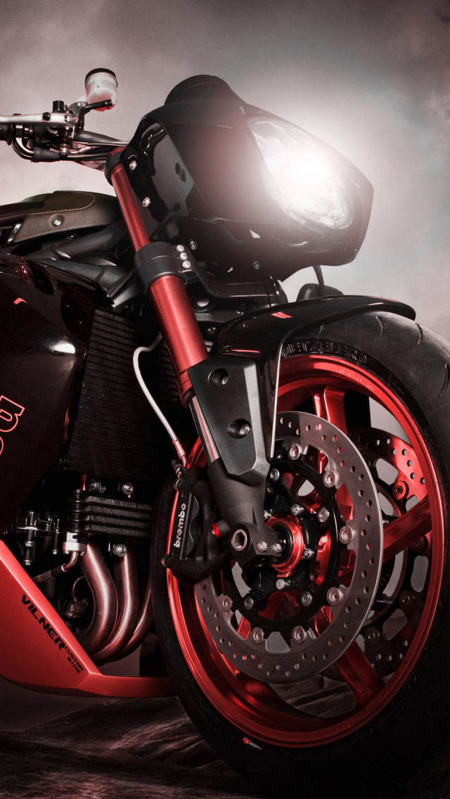 Free Download Bulldog Triumph Motorcycle Wallpaper Iphone