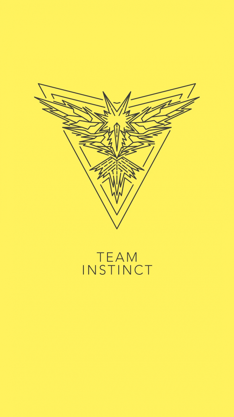 Free Download Team Instinct Pogo Pokemon Go Yellow Zapdos Phone