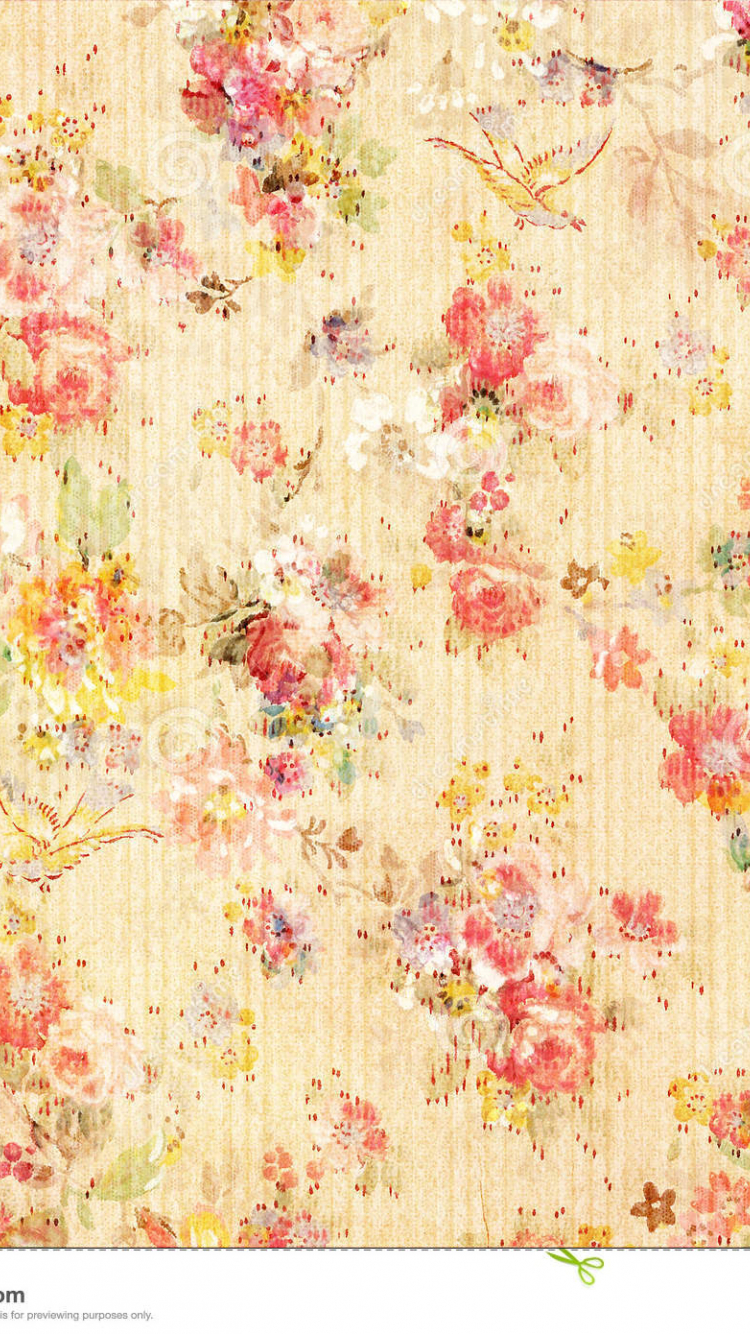 Free Download Yellow Shabby Chic Vintage Floral Wallpaper 1300x1390 For Your Desktop Mobile Tablet Explore 38 Cottage Floral Wallpaper French Country Cottage Wallpaper Floral Wallpaper Cottage Wallpaper For Walls