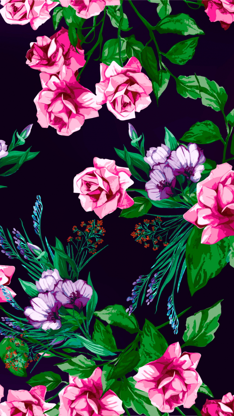 Free download floral pattern rose print texture background flowers wallpapers 3000x3000 for ...