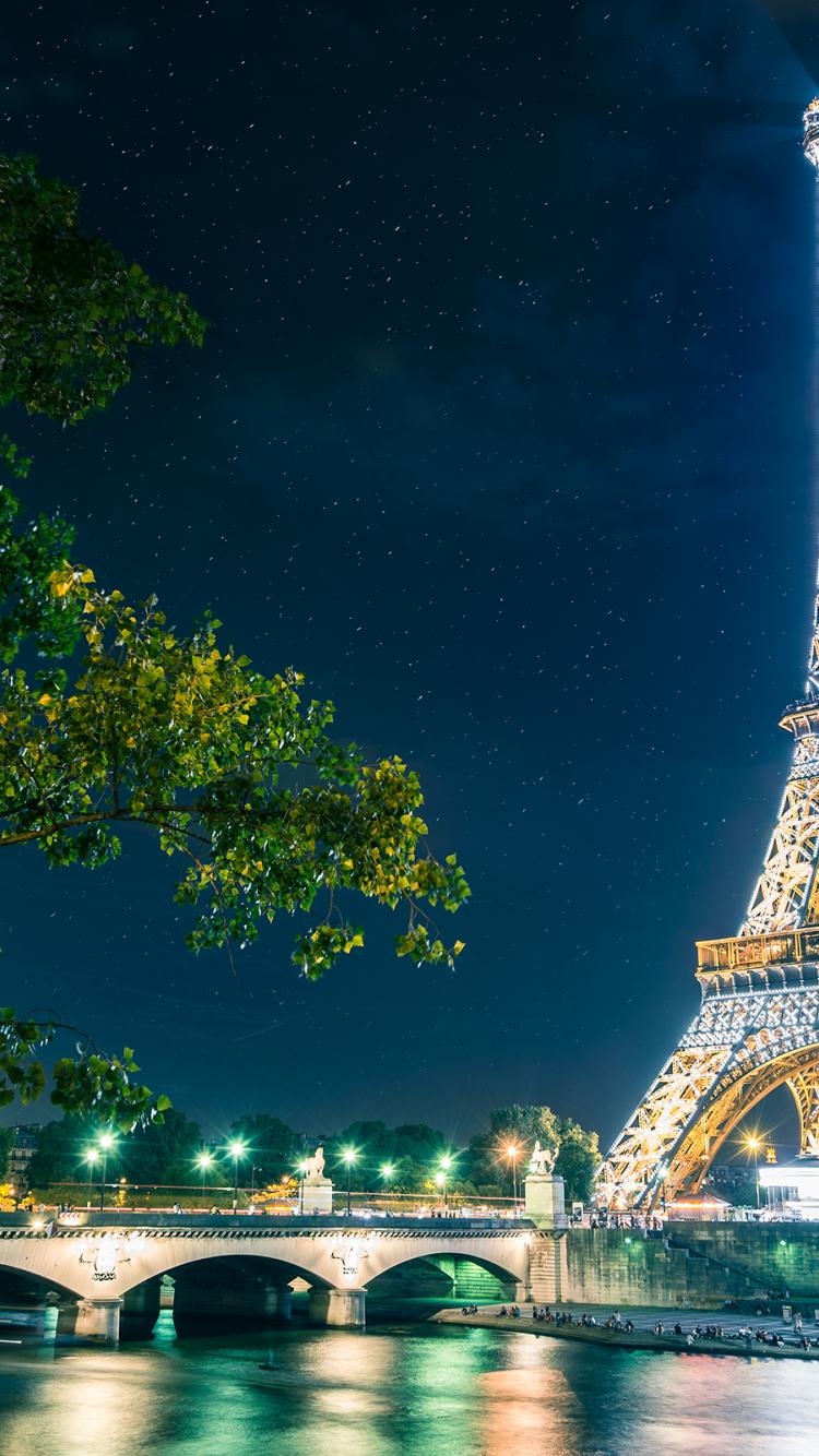 Free Download Fond Ecran Paris Tour Eiffel Illumine Id 6012