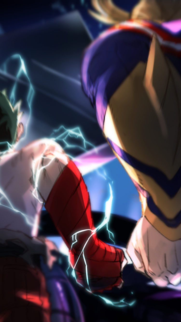 Free Download All Might And Deku Vs Vilain Hd Wallpaper Background