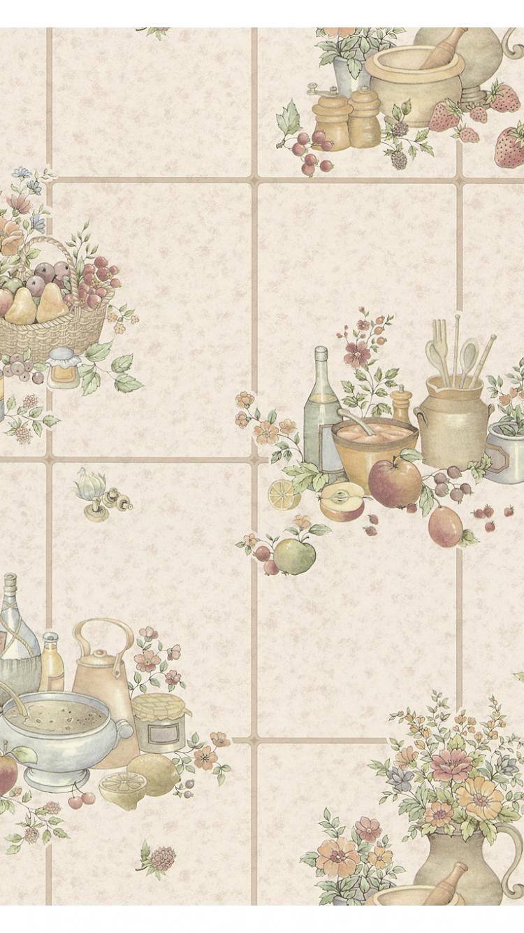 Free Download Wallpaper Samplepicnic Floral Mauve Kitchen Tiles