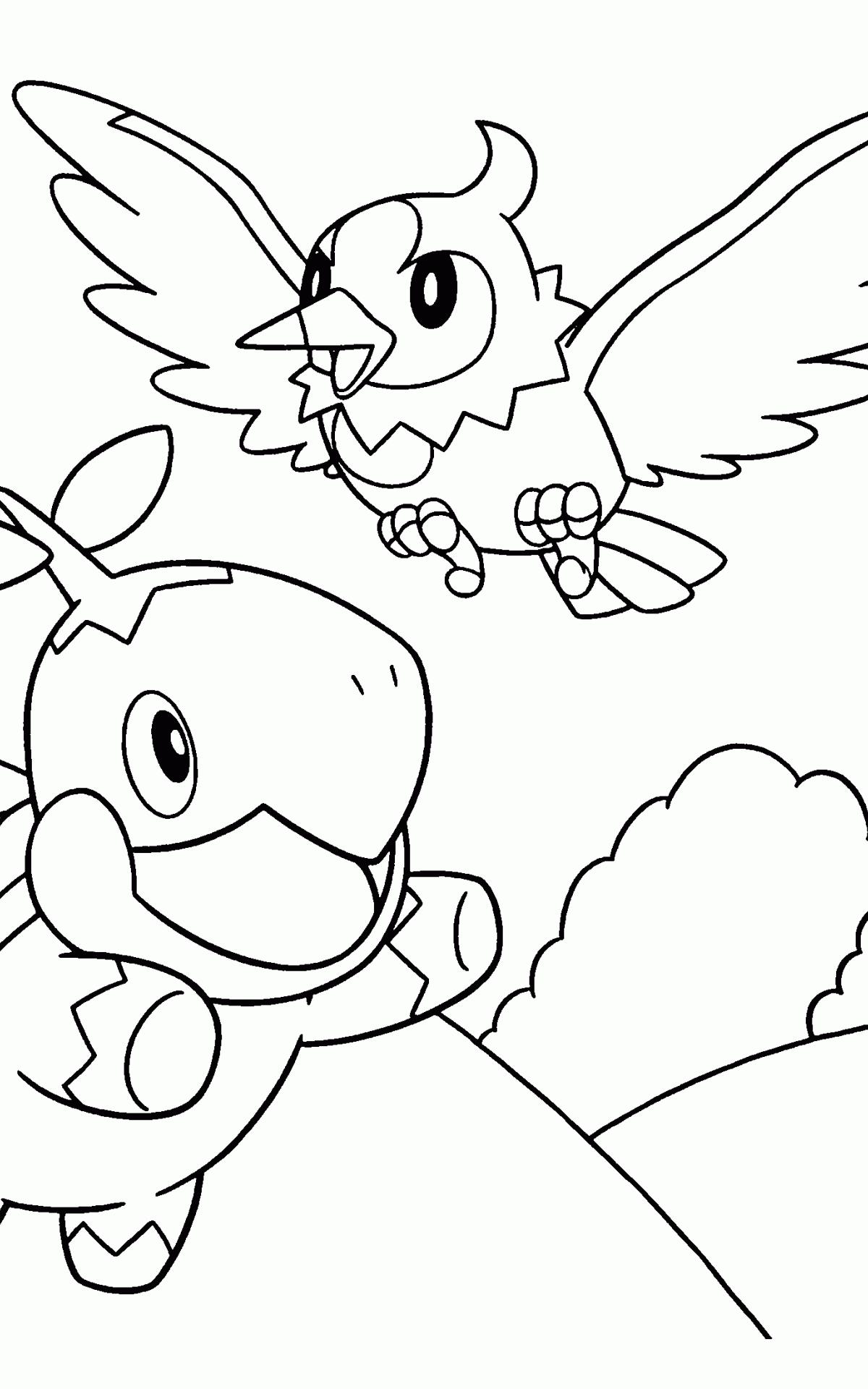 Kleurplaten Pokemon Turtwig.2200x2200px Diamond Vogel Wallpaper Wallpapersafari