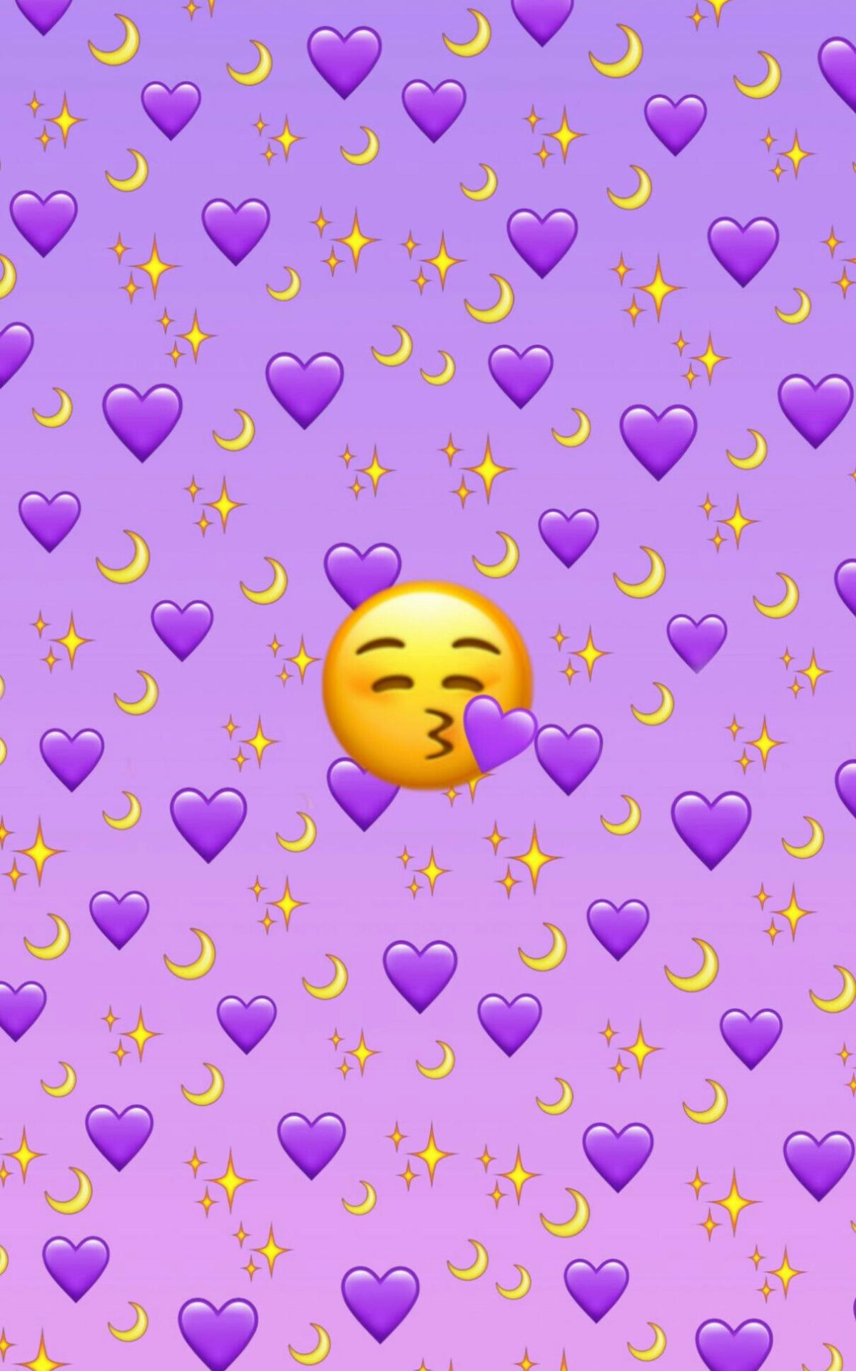 Free download Purple Emoji background Emoji wallpaper iphone Emoji ...