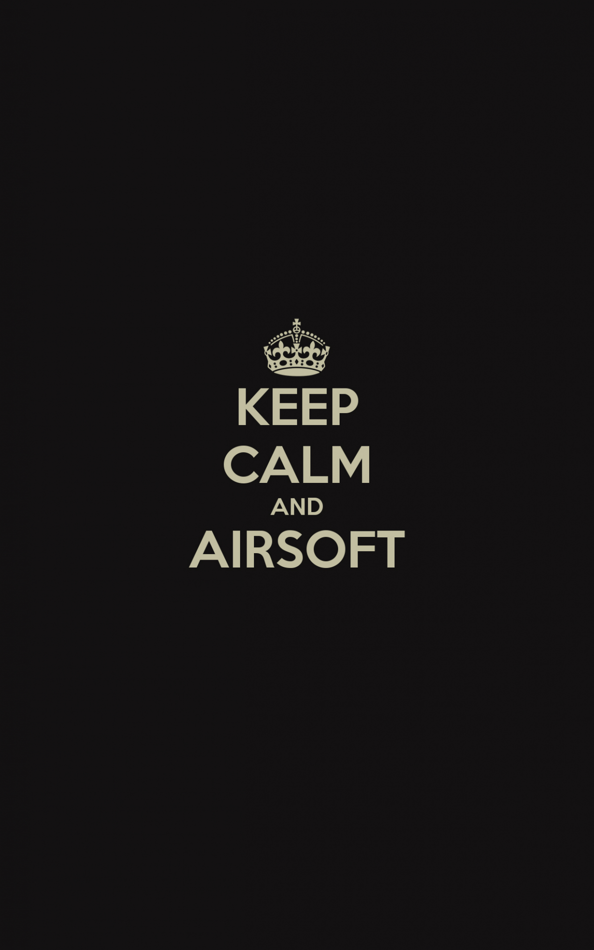 Free Download Keep Calm And Airsoft Wallpaper For Iphone X 8 7 6