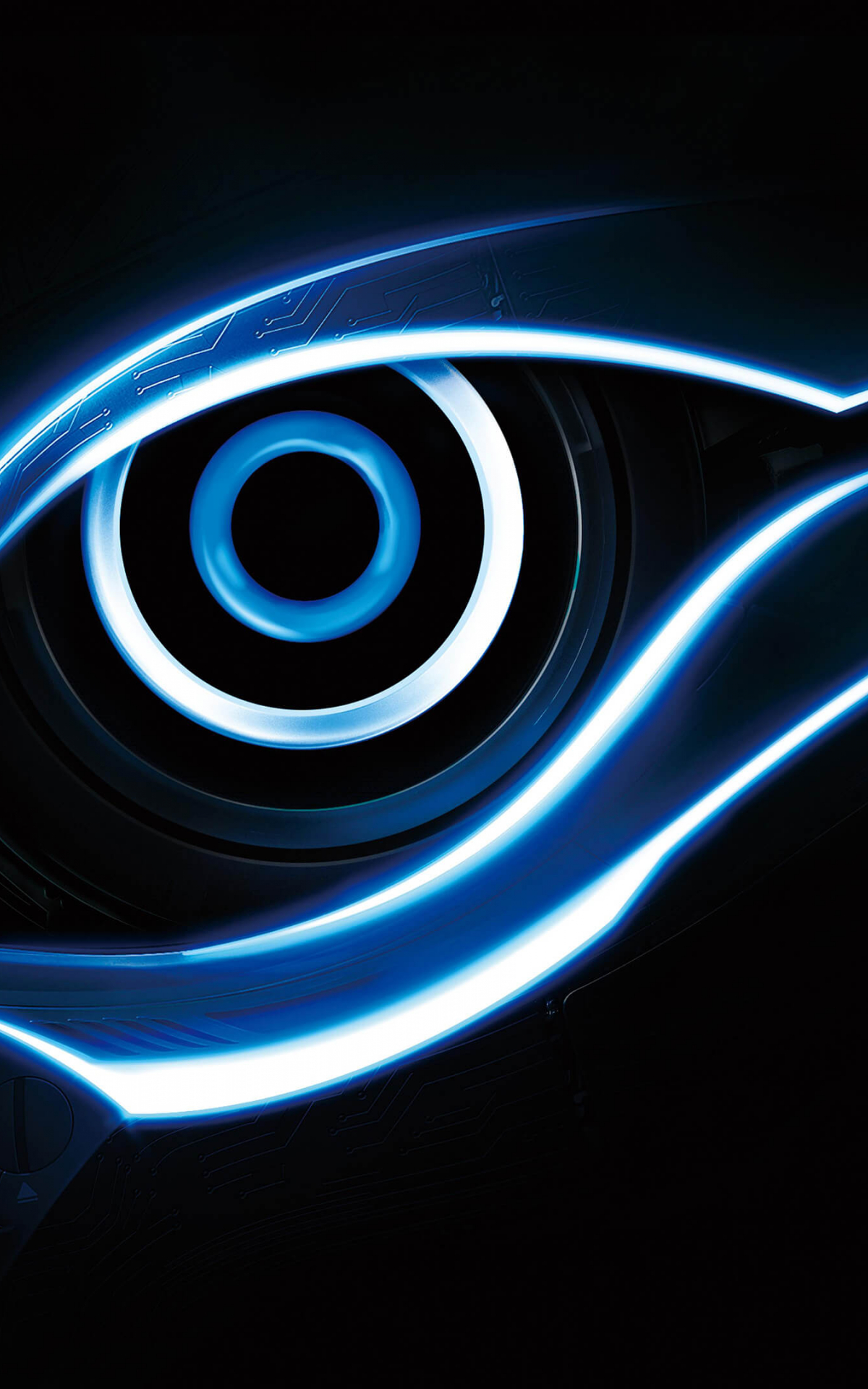 Free Download Blue Gigabyte Eye Logo 4k Wallpaper 3840x2160