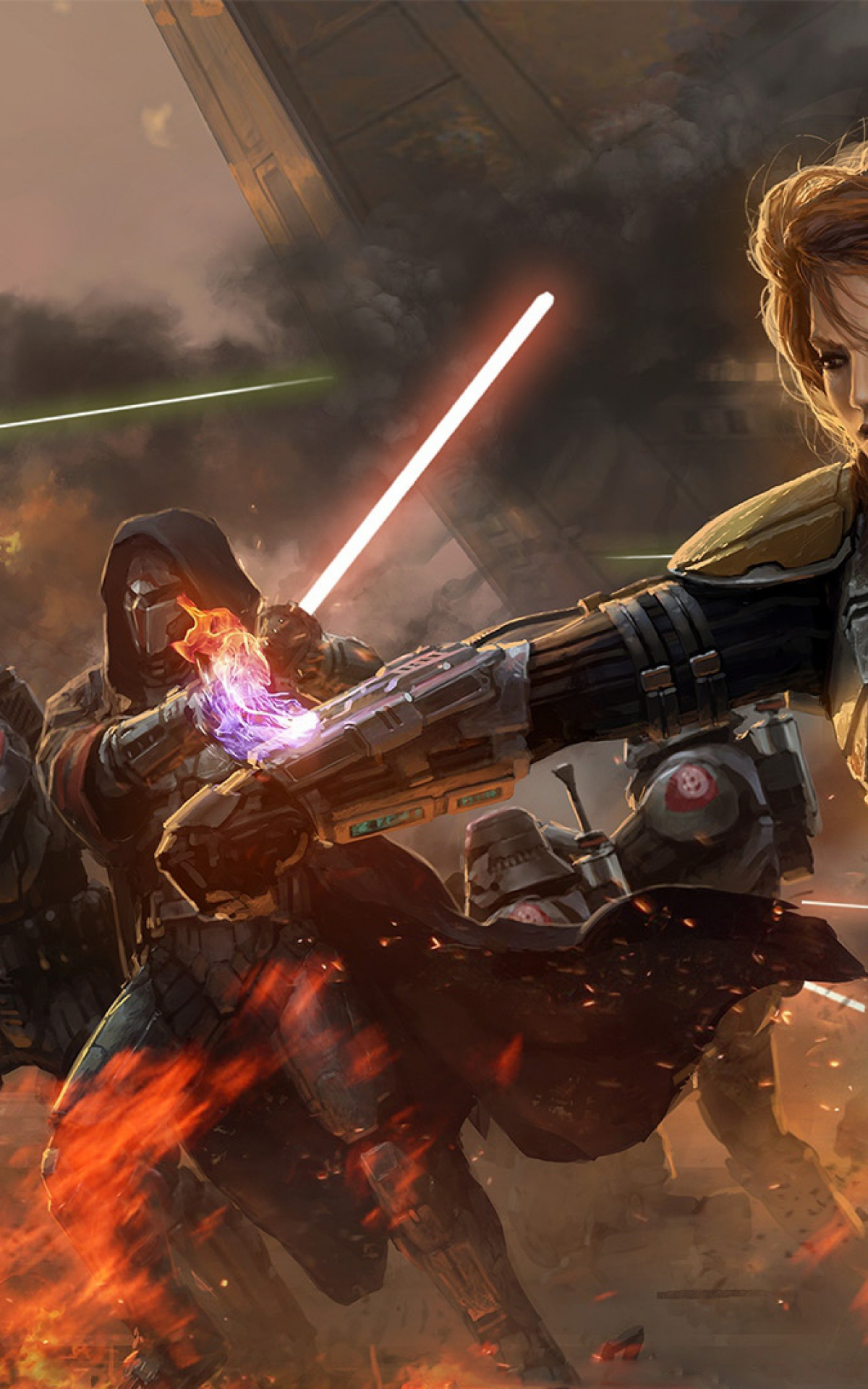 Free Download Star Wars The Old Republic Girl Lightsabers Battle Smoke 3840x2160 For Your Desktop Mobile Tablet Explore 45 4k Wallpaper Star Wars Star Wars Desktop Wallpaper Star Wars