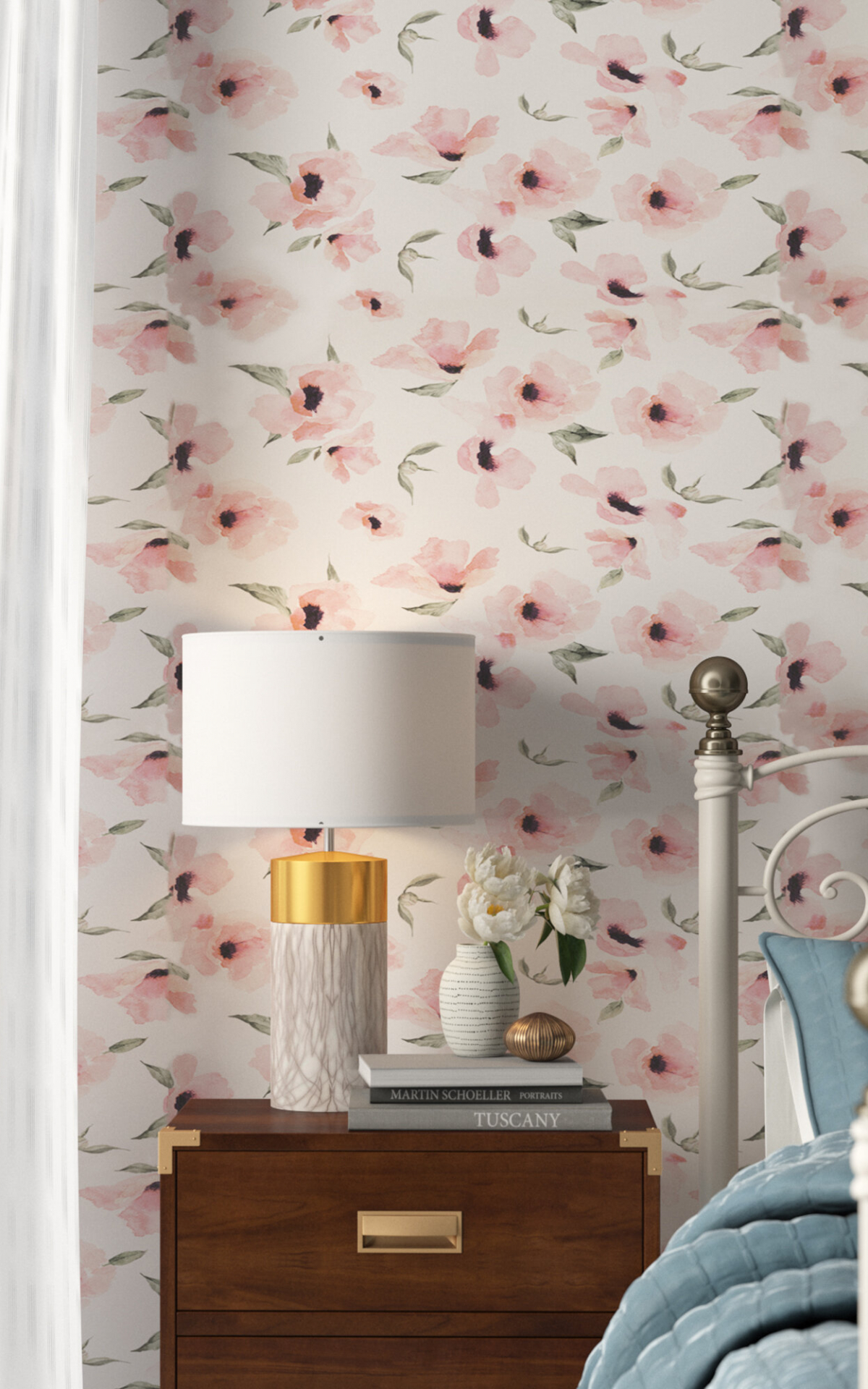 Free Download Fabric Floral Botanical Wallpaper Youll Love In 2019